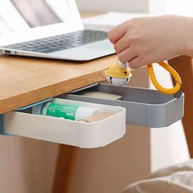 Staca Laci Meja Storage Box Case Desk Sticky Adhesive - STA03 - Gray