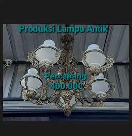 Produksi lampu Antik Cabang 5 Hias Joglo Gebyok