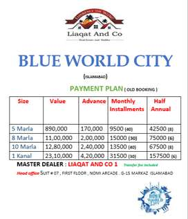 Blue world city files avail on old rates