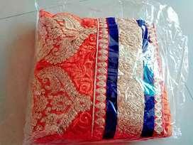 Embroidery work lehenga in net