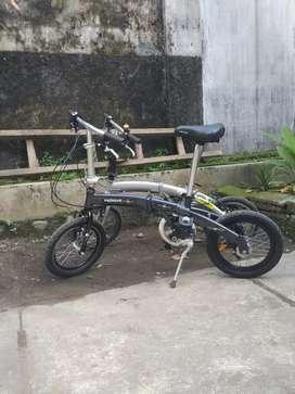 sepeda lipat, uk16, bahan aluminium, ringan 3sp, internal gear