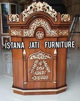 Ready stock mimbar masjid podium salina