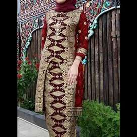 New motif set songket merah klasik