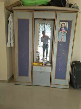 Wooden and steel wardrobe for sale