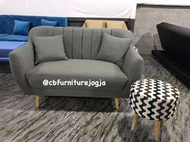 Sofa model Scandinavian dengan 2 seat . + 1stool
