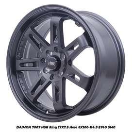 velg hsr terbaru r17 warna grey lebar 7,5 cocok untuk mobil vios