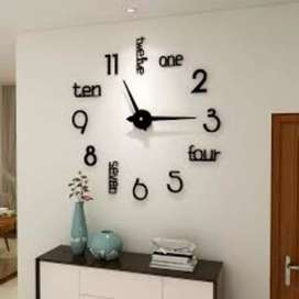 Wall clock 3D acrylic  lose ages design