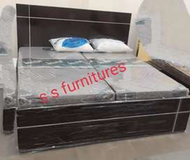 Brand New double bed in simple and heavy wood