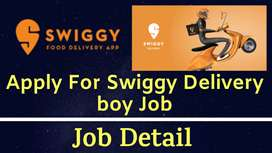 Swiggy process urgent hiring for Delivery/ field Executives in NCR