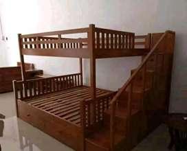 furnitur ,tempat tidur anak jati