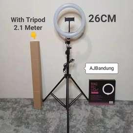 KOMPLIT Ringlight 26cm Tripod 2,1m Plus Holder HP TERMURAH