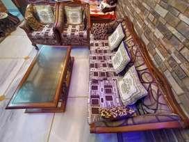Teakwood sofa Set 5 seater