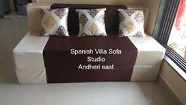 Trendy sofa cum bed foldable & washable cover ,in fabric 5x6 size .