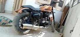 Royal Enfield converted into Harley Davidson