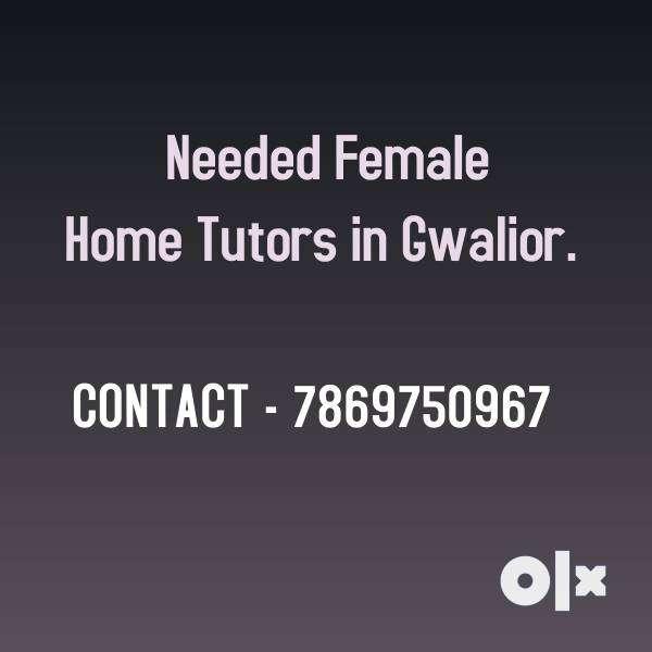 Need Female Home Tutors in Gwalior