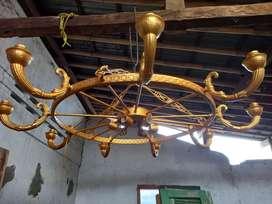 Lampu Gantung Cabang 9 Kuno.