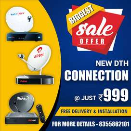 Airtel DishTV Tata Sky HD DTH Connection lowest price Online