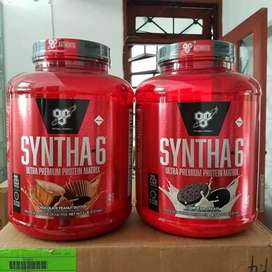 Suplemen fitness body build mucle build syntha 6 whey protein