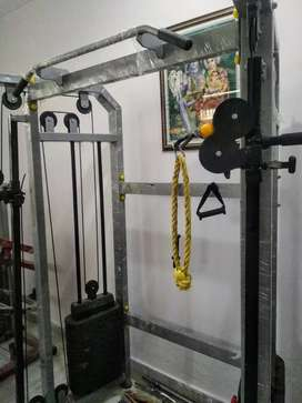Gym machine cable cross functional trainer