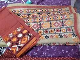 Unused elegant jute designer saree