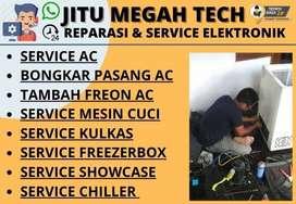 Service AC Mesin cuci Servis Kulkas Showcase Freezerbox Pasang AC