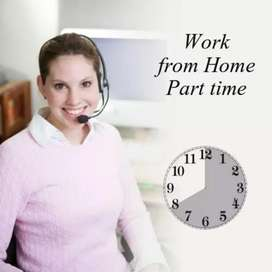 Part time job home based  writing work