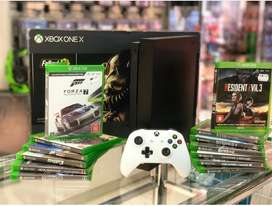 Xbox one console with 11 month warranty and games