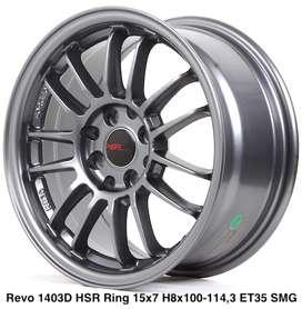 velg keren REVO 1403D HSR R15X7 H8X100-114,3 ET35 SMG