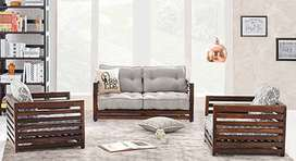 Brand new sheesham solid wooden four seater sofa set