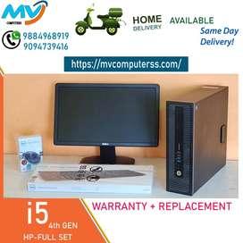 2gb#GRAPHIC/cpu/computer-500gb-hdd+i5 4th gen@hp-warranty-4gb RAM-i7i3