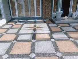 Batu karpot / batu sikat motif