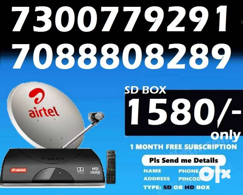 Airtel DTH Dish Tv D2H New Box @ just 1580/- All over india best offer 0
