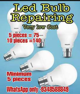 Led Bulb Repairing .Minimum 5pieces at a time .