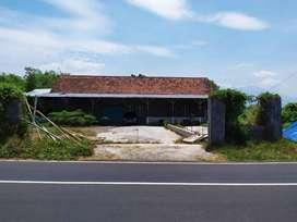 Jual gudang & tanah di kab Pasuruan, jalan lebar