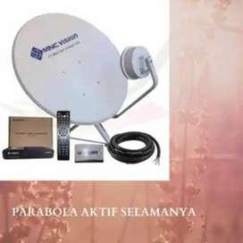 Pemasangan parabola MNC vision bebas biaya bulanan