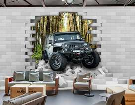 Wallpaper Dinding 3D Custom Desain.1622373brb