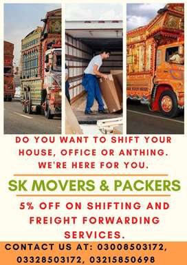 SK Movers & Packers Provides Packing, Moving and Labor services
