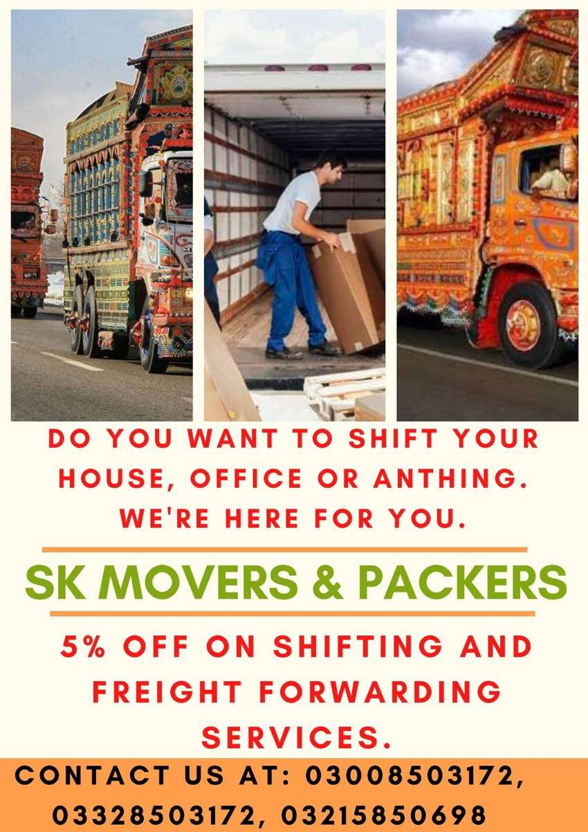 SK Movers & Packers Provides Packing, Moving and Labor services 0