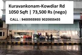 Second Floor with Lift     1050 Sqft   Kuravankonam - Kowdiar Road