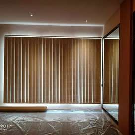 Vertical blind desain gorden minimalis natural