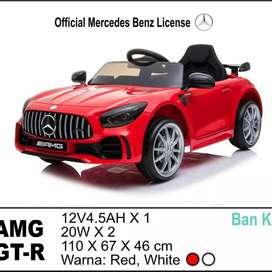 Mobil mainan aki mercy AMG GTR ban karet free ongkir area terbatas