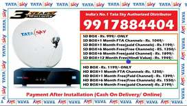 Bapatala Distributor Tata Sky DTH - Tatasky D2H Dishtv Videocon Dish