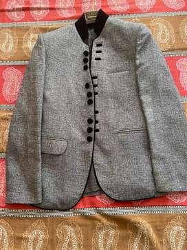 Black grey textured Blazer