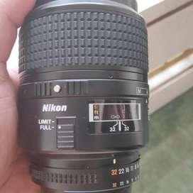 nikon nikkor lens 105mm 2.8 D makro macro lensa mulusss