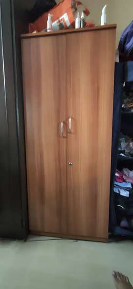 Well maintained wardrobe with drawers
