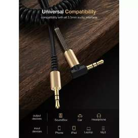 SIKU Kabel AUX L 1.5m Spring 3.5mm Jack Audio Male Cable 150cm iw1