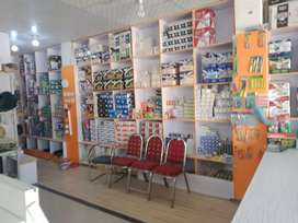 Electric store tiles and sanitory