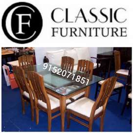 New classic dining table 6 seater factory price best deal#214