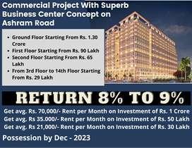 Pre-Leased Shop on 1st & 2nd Floor for Sale in Ashram Road || 8% Avg.