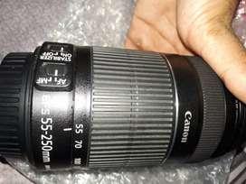 Canon EFS 55-250 mm zoom lens